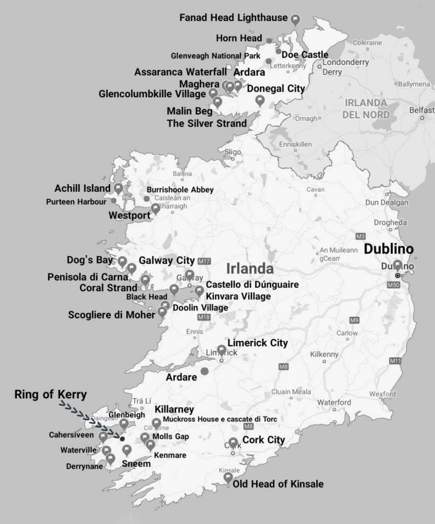 """mappa mio itinerario irlanda on the road"""