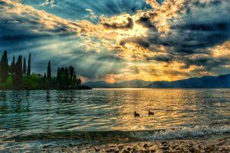 """""""lago di garda spiaggia tramonto"""""""