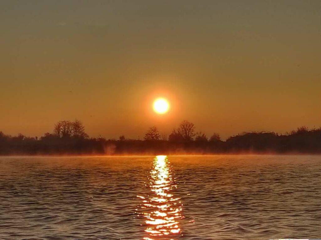 """""""tramonto inverno sul mare con nebbia"""""""