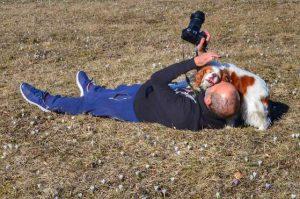 """""""io luca rubbis fotografo con cucciolo cane"""""""