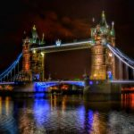 """il tower bridge londra di notte"""