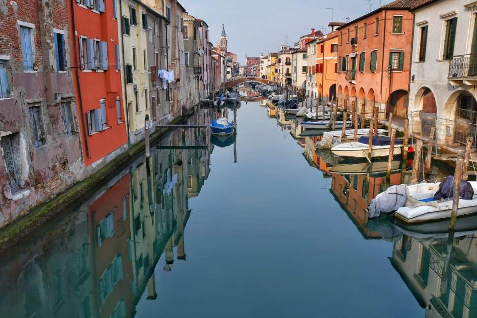 """""""chioggia venezia riflessi sul canale"""""""