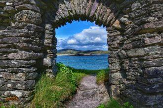 """""""fotoviaggiando vista dalla finestra abbazia darrynane"""""""