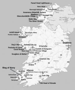 """mappa mio itinerario irlanda on the road"""