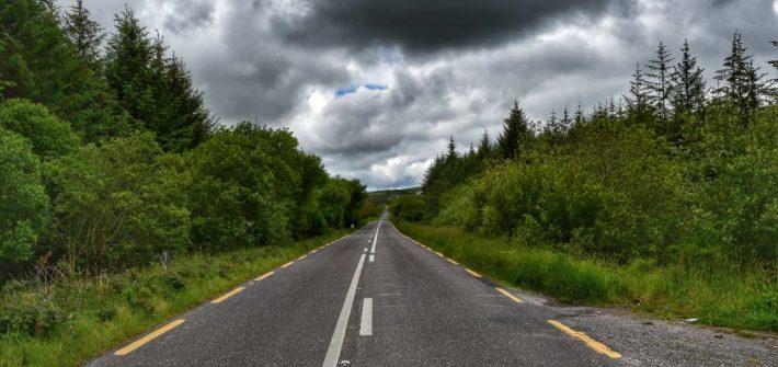 """""""strada sud irlanda in mezzo alberi verdi"""""""