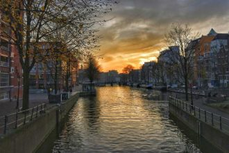 """tramonto canale amstrdam"""