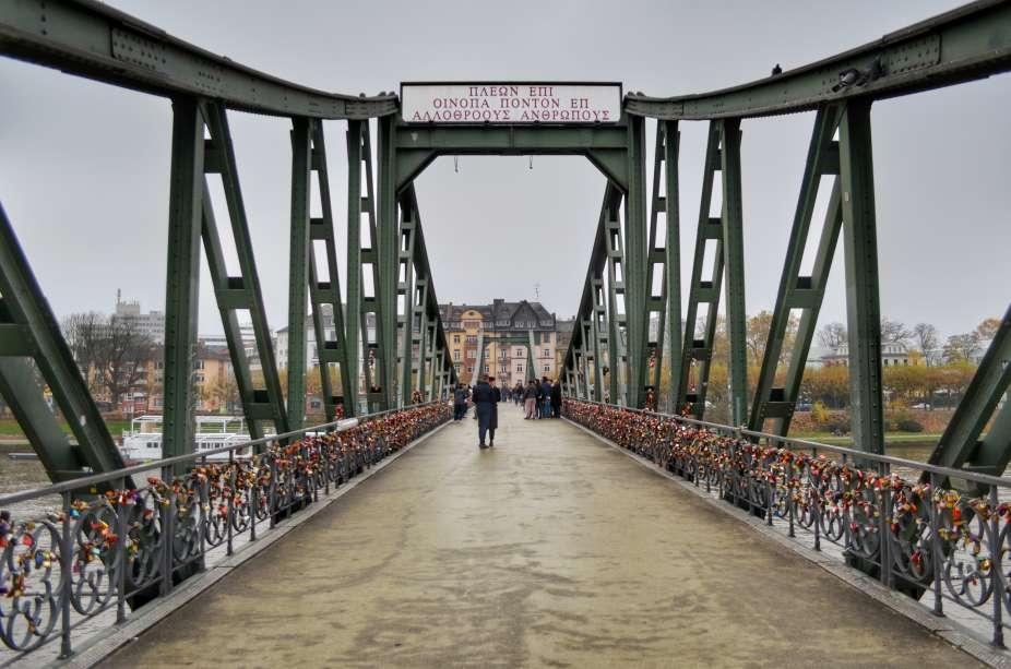 """""""francoforte iron bridge ponte dei lucchetti degli innamorati"""""""