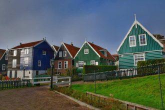 """marken olanda amsterdam veduta case colorate"""