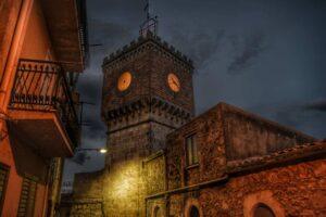 """""""mussomeli torre orologio illuminata"""""""
