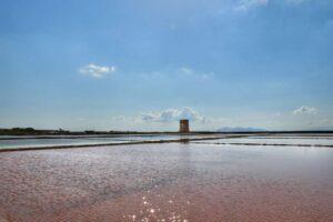 """""""visuale dell acqua rosa delle saline di marsala"""""""