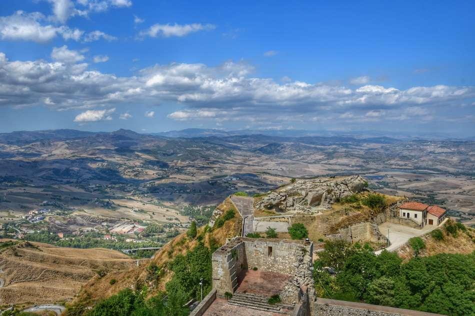 """""""la rocca di cecere vista panoramica dalla torre pisana del castello di lombardia"""""""