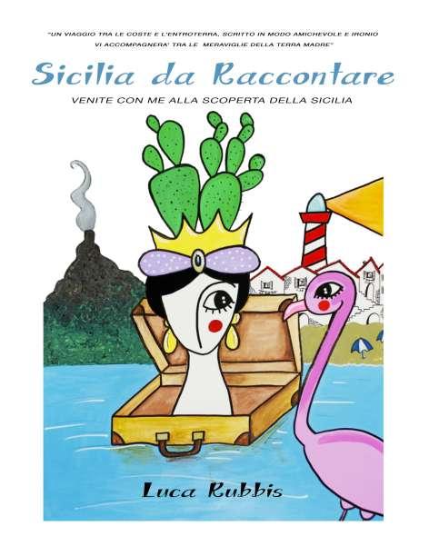 """""""copertina del libro sicilia da raccontare illustrazione colorata"""""""