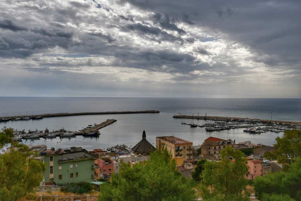 """sciacca veduta panoramica porto"""