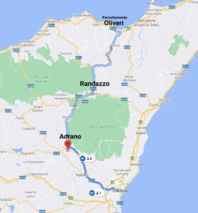"""""""tour sicilia luglio 2021 cartina giorno uno"""""""