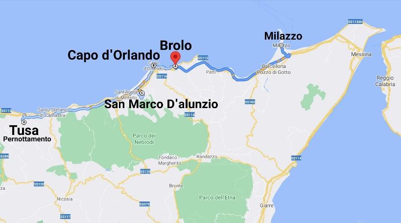 """""""tour sicilia luglio 2021 cartina giorno quinto"""""""