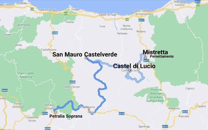 """""""tour sicilia luglio 2021 cartina giorno otto"""""""