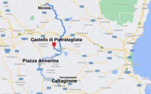 """""""tour sicilia luglio 2021 cartina giorno undici"""""""