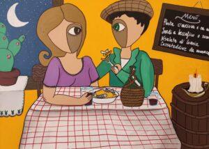 """""""quadro con innamorati che pranzano"""""""