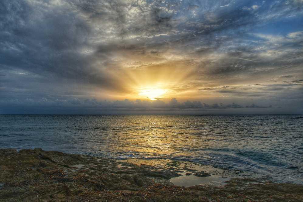"""""""tramonto con nuvole a punta secca"""""""